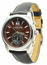 Michael Kors Aiden MK8415 Brown Dial Black Leather Band Men's Watch