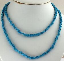 Turquesa (Rekonstruktiert) Collar de Piedras Preciosas Interminable 90 Cm
