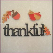 THANKFUL WORD PACK METAL MAGNETS SET OF 3 BY EMBELLISH YOUR STORY FREE SHIPPING