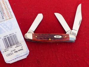 Case XX USA 6318 SS 2014 stockman mint in box old red bone knife ld