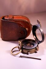 WW1 OFFICERS MARCHING COMPASS, VERNER'S PATTERN V11, WITH METAL ROD & CASE