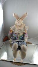 Vintage Shabby Hand Made Bunny Primitive Rustic Farmhouse Shabby Cottage Style