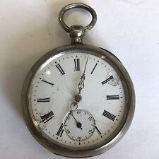Antico In Argento 800 Orologio da taschino G.T CILINDRO 10 gioielli di lavoro A/F