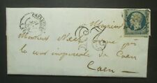25c bleu Napoléon Présidence N° 10 obl  taxé 25 sur lettre