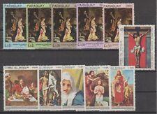 v2991 Paraguay/ Gemälde  MiNr 1700/04 + 1854/59 ** aus Satz
