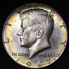 1967 TONED Kennedy Half Dollar CHOICE BU FREE SHIPPING E350 ACT