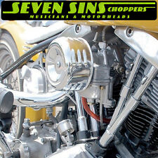 MOONEYES HOTROD AIR CLEANER LOUVERED CHOPPER SUPER E G MOTORCYCLE CV HARLEY S&S
