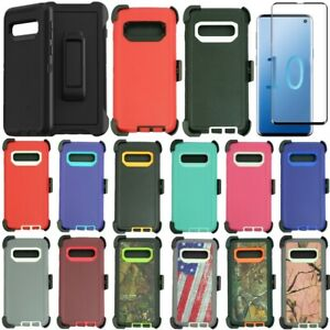 For Samsung Galaxy S10e S10 S10+Plus Defender Case with Belt Clip Fits Otterbox