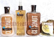 Bath and & Body Works COCONUT VANILLA Mist Shower Gel Lotion Scentportable SET