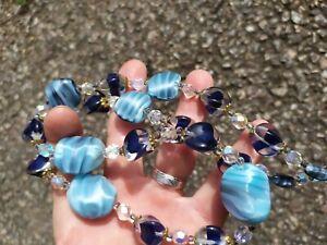Très Beau  Collier Ancien Necklace Perles De Murano Venise ENVOI INTERNATIONAL