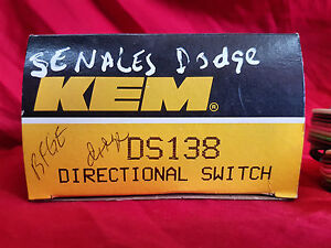 Turn Signal Switch-Directional Signal Switch Kemparts KEM DS138 Chrysler 1982-85