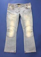Denny rose size L jeans donna usato boyfriend zampa bootcut usato azzurri T317