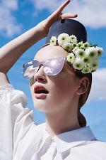$325 NEW KAREN WALKER Star Sailor Superstars rose gold mirror mirror sunglasses