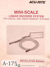 Acu Rite Mini Scale Linear Encoder System Installation Manual 1987