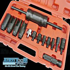 14pc Injection Injector Puller Set Common Rail Adaptor Diesel Injectors Tool Kit