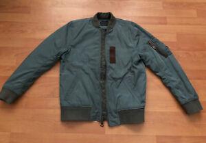 Vintage Abercrombie Olive Flight Jacket MA-1 style size small W/ Talon Zippers