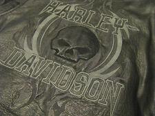 Harley Davidson Leather Jacket Limited Edition Rockhound Skull Willie G Men L
