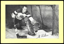 1945-1964 BEEHIVE GROUP 2 AL ROLLINS CHICAGO BLACK HAWKS EX-NM HOCKEY PHOTO