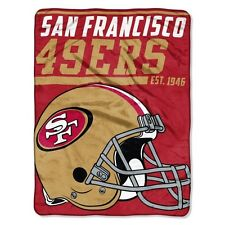 "New NFL San Francisco 49ers Soft Micro Rasche Large Throw Blanket 46"" X 60"""