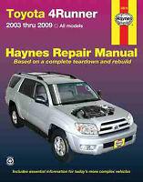 Toyota 4Runner Shop Manual Service Repair Haynes Chilton Book 2003-2009