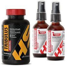 Tribulus Terrestris Extract 1000mg & T-Power Testosterone Booster Spray (1+2)