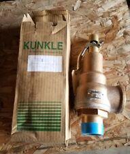 "KUNKLE 6010JHM01-KM0125 2 X 2 1/2"" BRONZE SAFETY RELIEF VALVE, 125 PSIG  NOS"