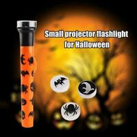 Halloween Projection Flashlight Torch Halloween Party Gifts Favours T1Y5
