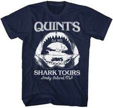 Jaws Movie Quints Shark Tours Est 1975 Licensed Adult T Shirt Shark Week Classic