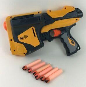 Nerf Dart Tag Speedload 6 Pistol Blaster Gun High Speed 2010 Hasbro Soft Darts