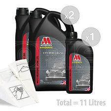 Car Engine Oil Service Kit / Pack 11 LITRES Millers CTV 20W-50 Semi Synth 11L