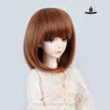 """6-7"""" 1/6 BJD Wig Yosd Hair Supper Dollfie AOD Dod Luts SOOM DIM Brwon Wig 0133"""