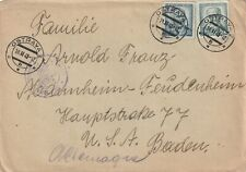 1948 Czechoslovakia censored cover sent from Ostrava to Mannheim-Feudenheim