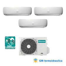 Condizionatore Trial Split Inverter Hisense Mini Apple Pie 12+12+12 Btu A++ 70