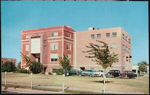 LAMESA TX Dawson County Court House Vintage 1950's Cars Old Texas Postcard