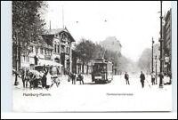 HAMBURG Reprint-PK Straßenbahn Tram Linie 2 anno 1906 in Hamm(er) Landstrasse