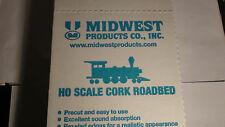 """MIDWEST CORK ROADBED #3013 HO SCALE 25 PIECES 36"""" LONG EACH PIECE TOTAL 75 FEET"""