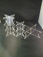 Clear Acrylic 3 Tier Wedding Cake Perspex Display Stand Set