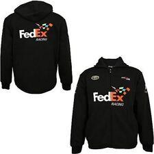 Chase Authentics Denny Hamlin #11 Fed Ex Racing Hooded Sweatshirt Size Large NWT