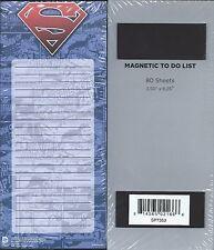 "SUPERMAN MAGNETIC 3.5"" X 8.25"" MEMO PAD COMIC CON BOX MINT BRAND NEW SEALED 50"