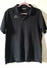 Vintage Kappa Black Polo Shirt T-shirt Size L