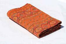 Indian Handmade Twin Patch WorkCotton Kantha Quilt Vintage Throw blanket