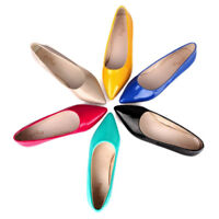 Womens Candy Color Flat Casual Shoes Slip On Sweet Pointy Ballerina Size Casual