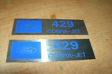 FORD 429 COBRA JET 429CJ VALVE COVER DECALS NEW PAIR MUSTANG TORINO CYCLONE ALL