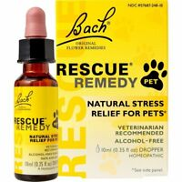 Rescue Remedy NATURAL STRESS RELIEF FOR PETS Dogs Cats Horses & Birds • Pet Bach