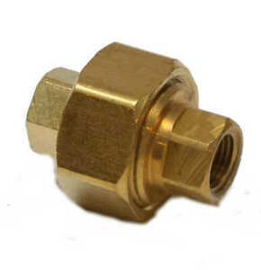 1/8 Npt Female 3 Piece Union Coupling Brass Pipe Fitting Air Water Oil Gas Fuel