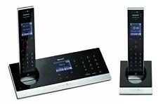 T-SINUS A602 DUO Schnurlos Design Telefon m. 2 Mobilgeräte + Anrufbeantworter