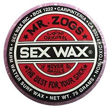 MR. ZOGS SEX WAX FOR SURF AND SKIM BOARDS (WARM WATER, PURPLE, GRAPE SCENTED)