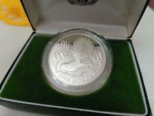 Willie : New Zealand 1980 Queen Elizabeth Silver Dollar proof coin