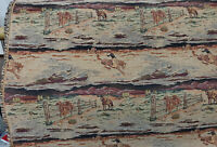 "ulphostery Fabric  vintage, horses and cowboys  design, 54"" wide, sold by yard"