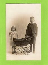 Child Pram with Doll Toys unused RP pc by H Howard Luton Ref D359